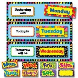 ays of the Week Bulletin Board Set