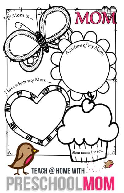 mother 39 s day preschool printables preschool mom. Black Bedroom Furniture Sets. Home Design Ideas
