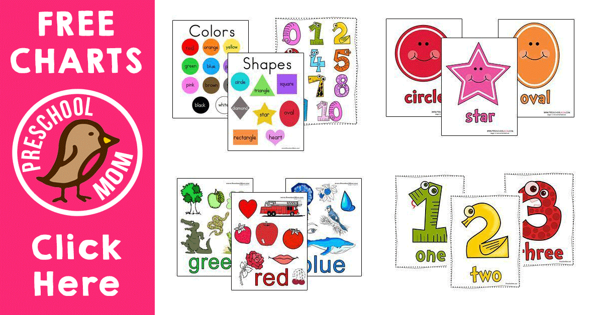 graphic regarding Printable Colors identified as No cost Printable Charts - Preschool Mother