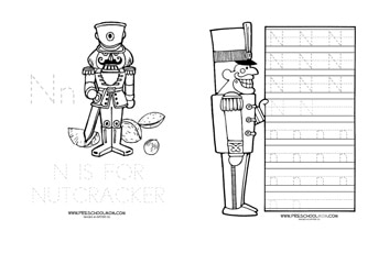 This is a photo of Zany Nutcracker Worksheets Printable