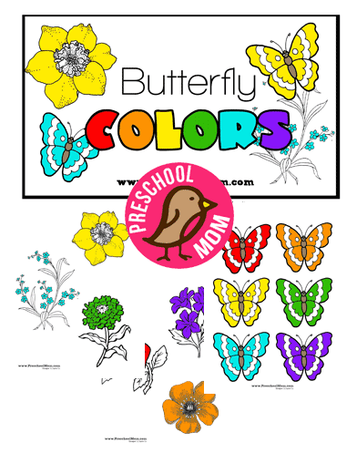 Butterfly Preschool Printables - Preschool Mom