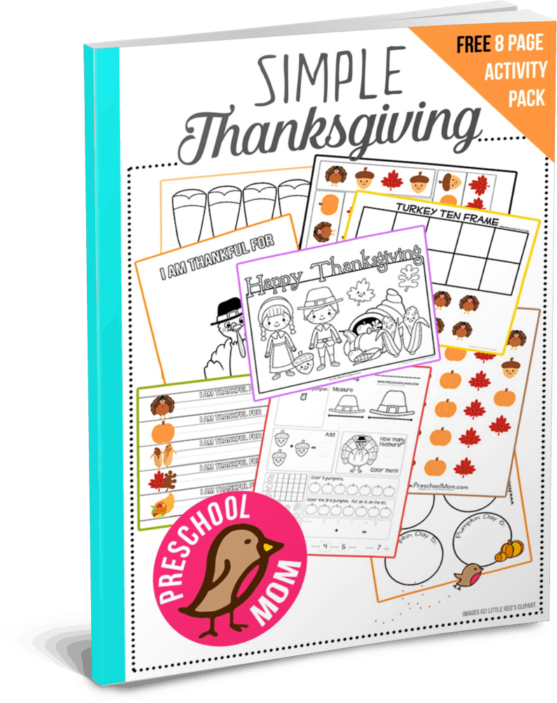 Thanksgiving Preschool Printables - Preschool Mom