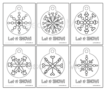 snowflake ornament coloring pages