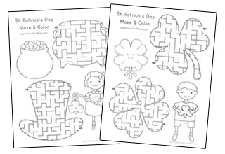St Patricks Day Maze Activity Pages