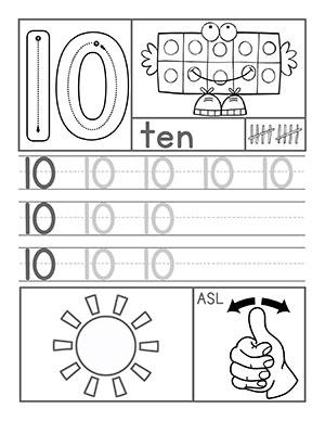 Number 10 Worksheet - Templates and Worksheets