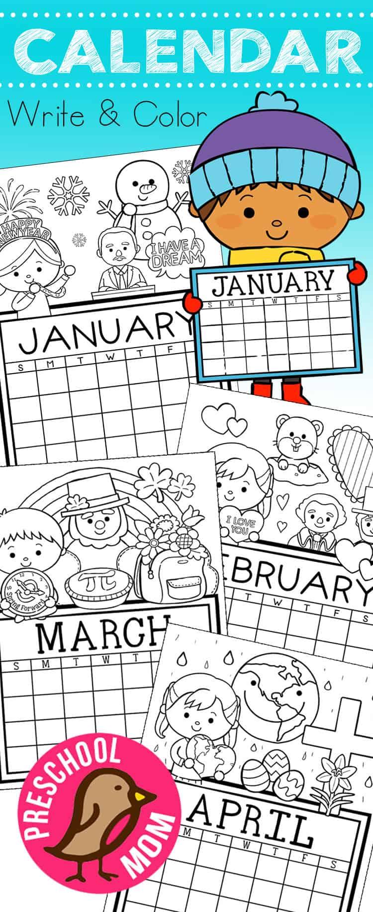It is an image of Handy Printable Preschool Calendars