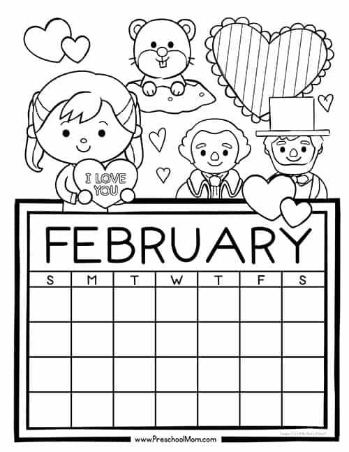June Calendar Numbers For Preschool : Preschool monthly calendar printables