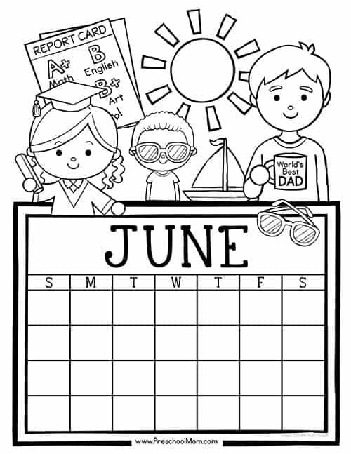 Kindergarten Calendar Worksheets : Preschool monthly calendar printables