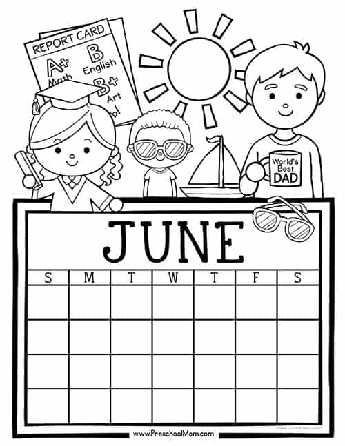 April Calendar Numbers For Preschool : Preschool monthly calendar printables