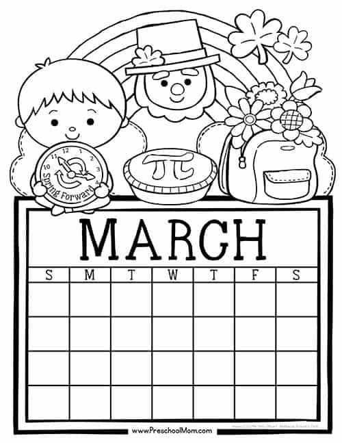 April Calendar Numbers For Preschool : Preschool monthly calendar printables mom
