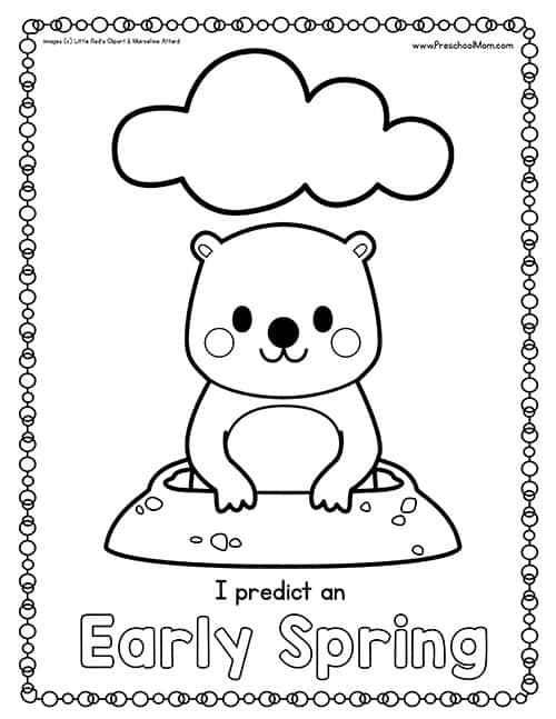 groundhog coloring pages preschool truck - photo#6
