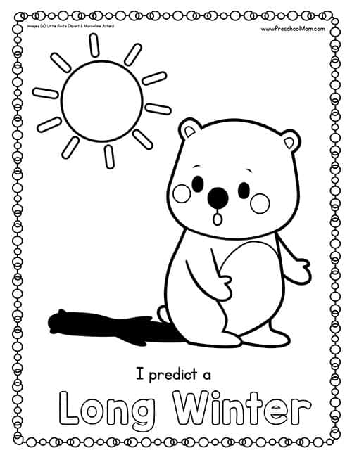 groundhog coloring pages preschool truck - photo#9