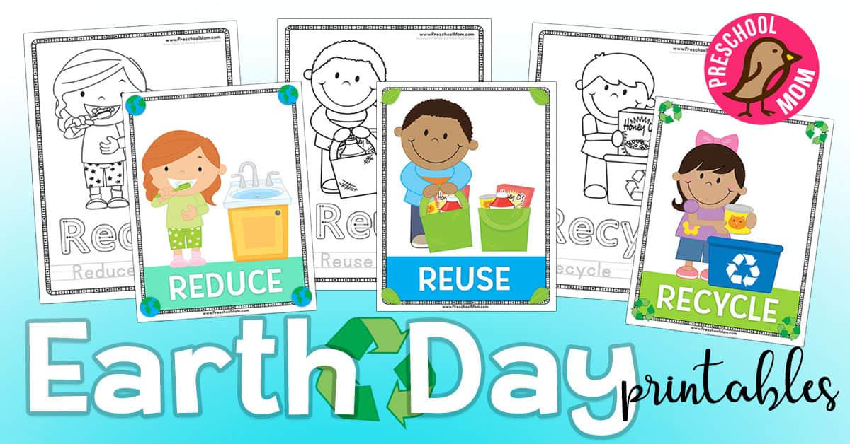 Earth Day Preschool Printables - Preschool Mom