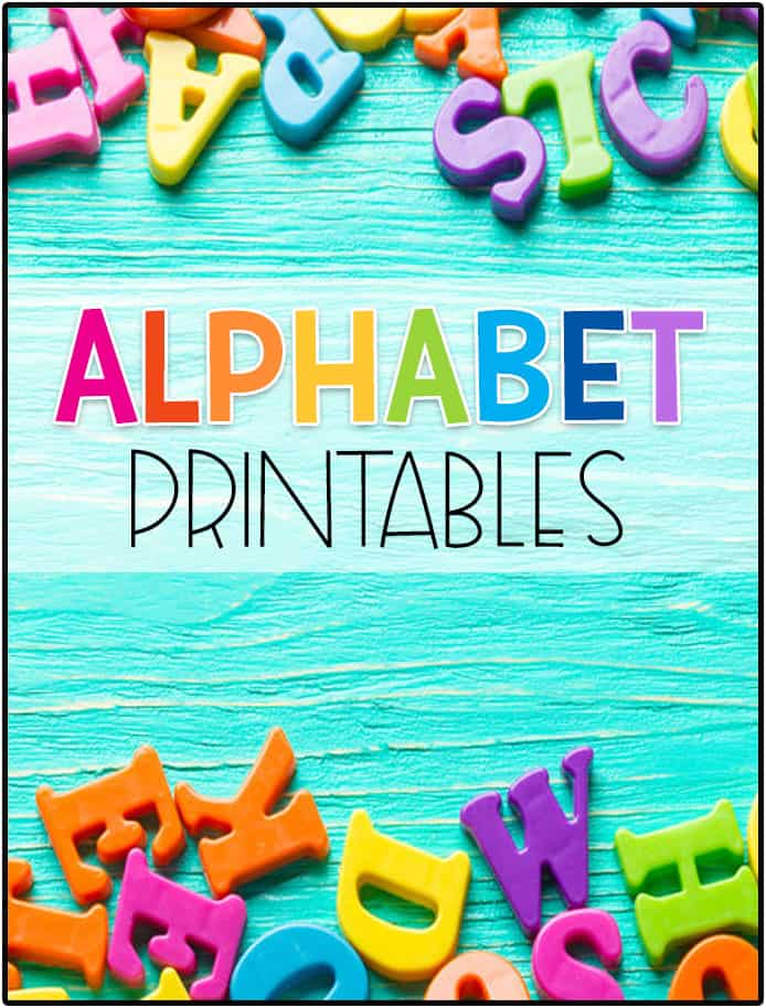 Alphabet Printables - Preschool Mom
