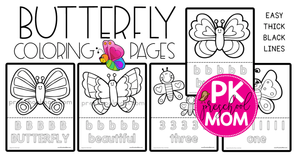 Butterfly Coloring Pages Preschool Mom