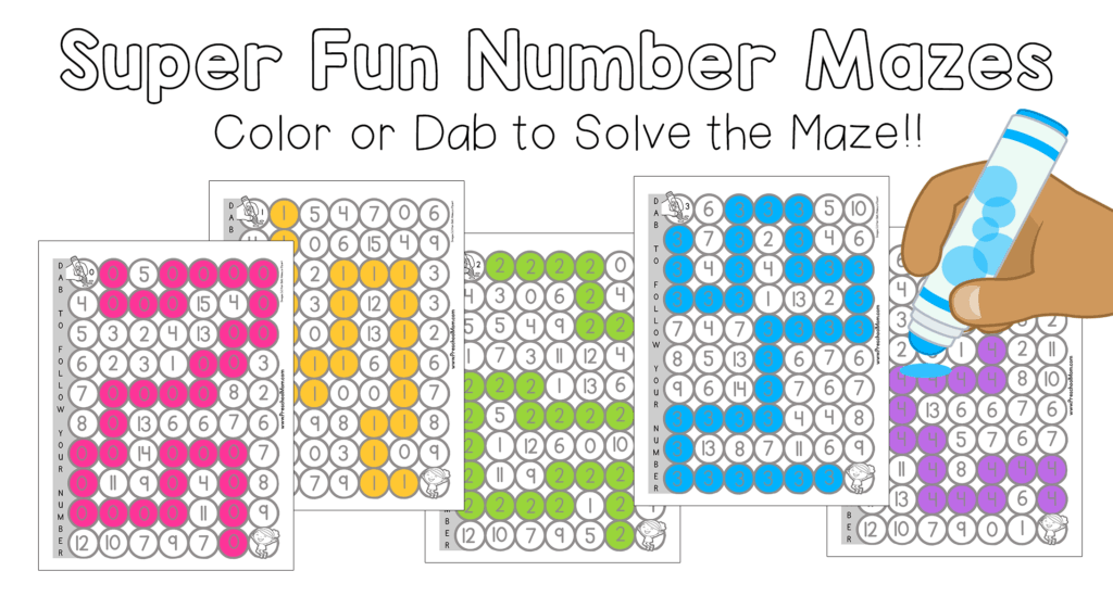Number Mazes for Kids