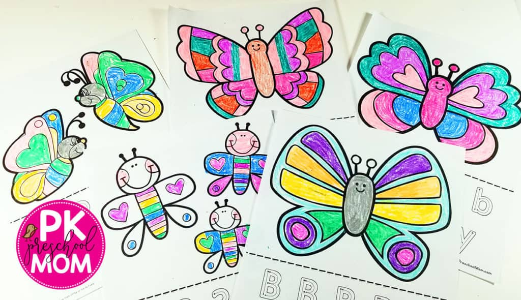 Butterfly Coloring Pages - Preschool Mom