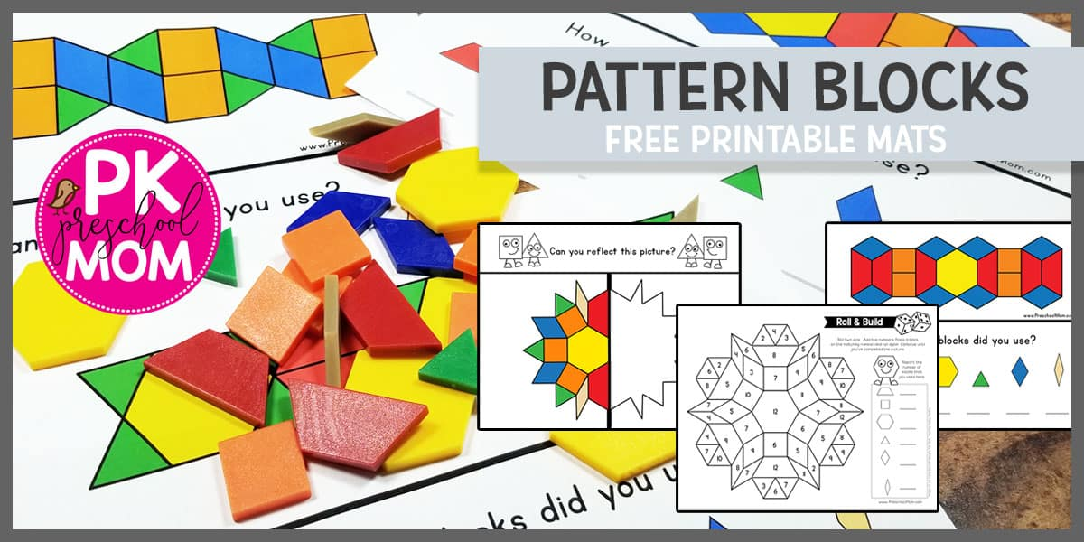 picture relating to Printable Pattern Block named Habit Blocks - Preschool Mother