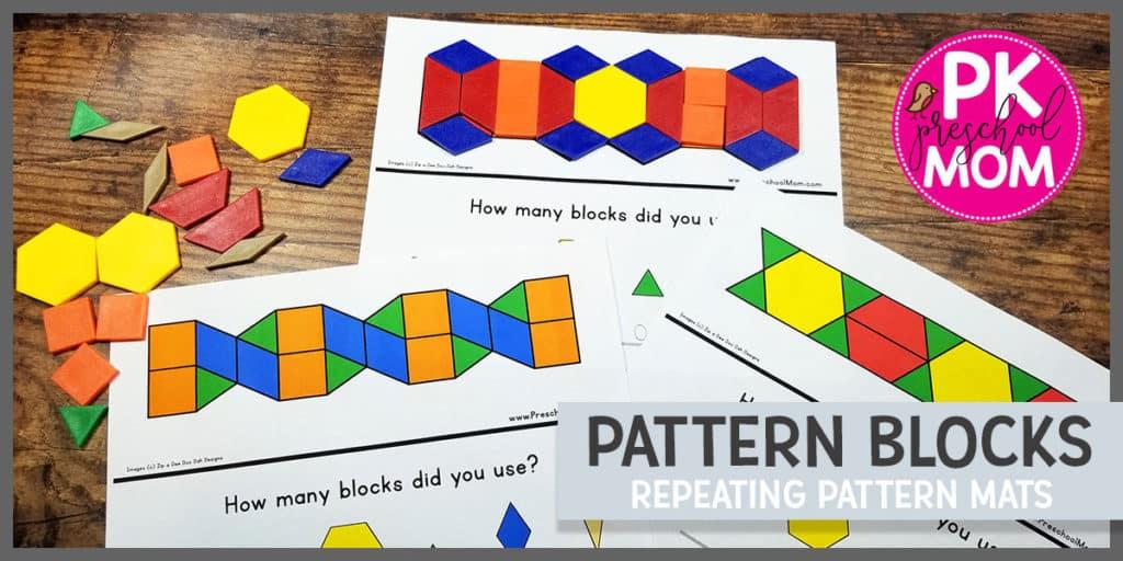 Pattern Block Templates Preschool Mom