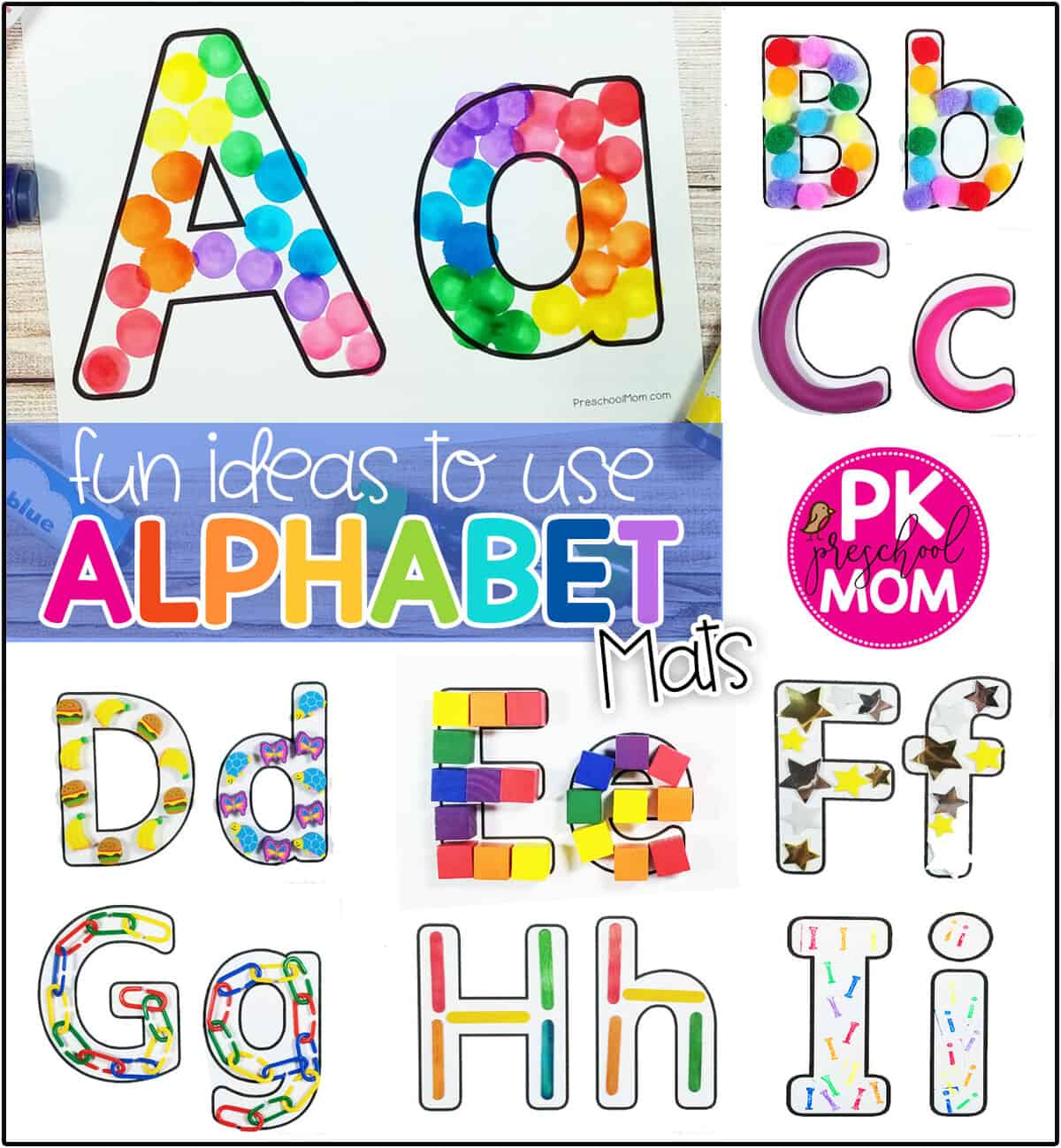 Alphabet Mat Printables - Preschool Mom
