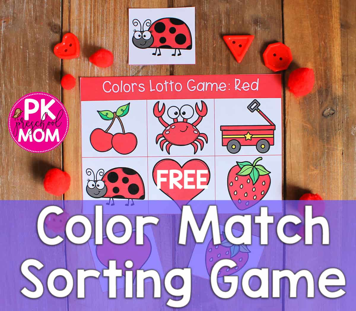 Color Games for Kids to Learn: Free Bingo Game - Preschool Mom